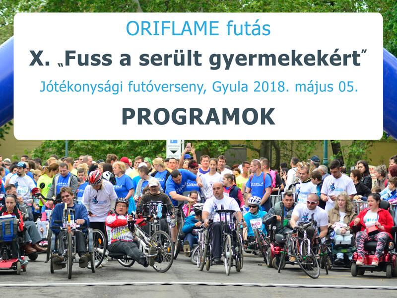 X. Oriflame futás - Fuss a sérült gyermekekért 2018.05.05.