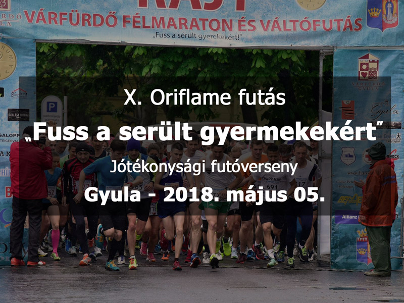 X. Oriflame futás - Fuss a sérült gyermekekért
